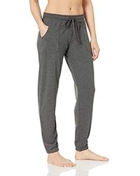 Mae Amazon Brand - Loungewear Classic French Terry Jogger With Pork Chop Pockets - Gray