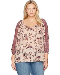 Lucky Brand - Plus Size Border Print Top - Lyst