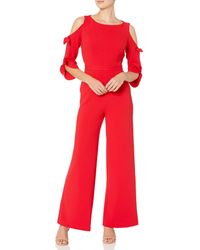 Donna Morgan Tie Sleeve Jumpsuit - Red
