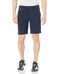 Lacoste Sport Taffeta Golf Bermuda Shorts - Blue