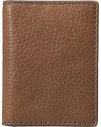 Fossil - Leather Rfid Blocking Card Case Bifold Wallet - Lyst