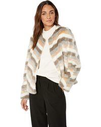Calvin Klein Faux Fur Jacket - Natural