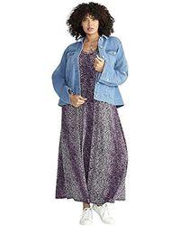 9004161ff1308 RACHEL Rachel Roy Oversized Denim Jacket in Blue - Lyst