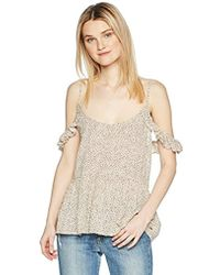 O'neill Sportswear Moe Cold Shoulder Top - Natural