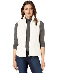 Amazon Essentials Polar Fleece Lined Sherpa Vest - White
