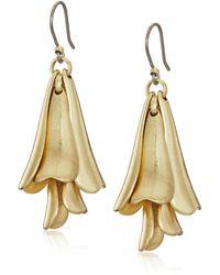 Lucky Brand - Petal Gold Drop Earrings - Lyst