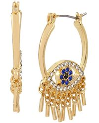 Jessica Simpson Evil Eye Hoop Earrings - Blue