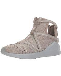 31d80098db PUMA Fierce Rope Satin En Pointe High Top Sneaker in Black - Lyst