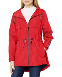 Tommy Hilfiger Anorak Jacket With Logo Sleeve Taping - Red