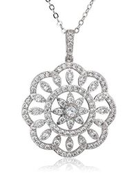 Nina - S N-arum Necklace, Rhodium/white Cz, One Size - Lyst