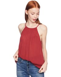 O'neill Sportswear Gabby Woven Halter Top With Pin Tuck Detail - Red