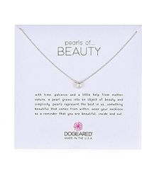 """Dogeared - Pearls Of Beauty, Small White Pearl, Chain Necklace, 16""""+2"""" Extender - Lyst"""