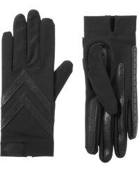 Isotoner Spandex Shortie Touchscreen Gloves - Black