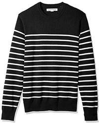 Amazon Essentials - Standard Crewneck Stripe Sweater - Lyst