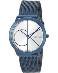 Calvin Klein Swiss Quartz Watch With Stainless Steel Strap - Multicolor