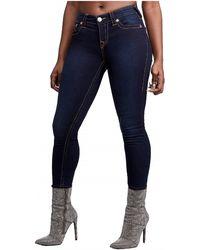 True Religion Halle Mid Rise Super Skinny Fit Jean - Black