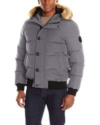 Levi's - Shorty Snorkel Quilted Hoody Bomber - Lyst