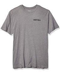 RVCA Linocut Short Sleeve Crew Neck T-shirt - Gray