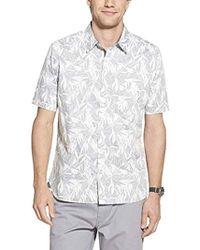 Geoffrey Beene Slim Fit Easy Care Short Sleeve Button Down Shirt - Multicolor
