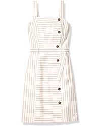 Tommy Hilfiger Striped Button Down Dress with Hook and Loop Closures Freizeitkleidung - Mehrfarbig