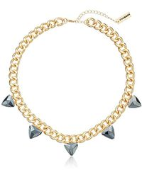 Steve Madden - Steve Madded Simple Spike Chain Necklace - Lyst