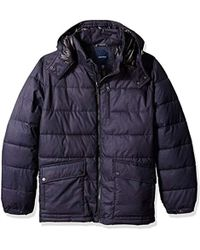 Nautica - Big And Tall Brushed Hooded Puffer Parka - Lyst