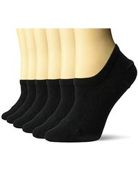 Amazon Essentials 6-pack Stay In Place Cotton Sneaker Liner Socks - Black