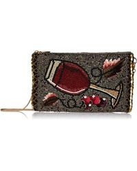 Mary Frances - Vino Beaded-embroidered Wine Glass Crossbody Phone Bag - Lyst