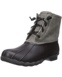 Sperry Top-Sider Womens Saltwater Rain Boot - Black