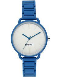 Nine West Rubberized Bracelet Watch - Blue