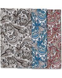 Perry Ellis Assorted Color 3 Pack Bandanas - Blue