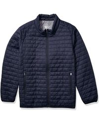 Dockers Big And Tall The Connor Lightweight Ultra Loft Quilted Packable Jacket - Blue