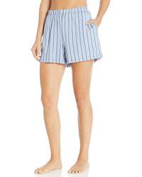 Hanro Sleep And Lounge Knit Shorts - Blue