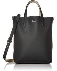 Lacoste Anna Vertical Shopping Bag - Black