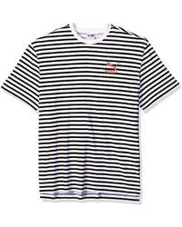 PUMA Summer Breton Stripe T-shirt - White