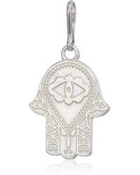 ALEX AND ANI Hand Of Fatima Charm Sterling Silver - Metallic