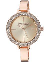Steve Madden Fashion Watch Smw238q - Metallic
