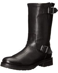 Frye Natalie Mid Lug Engineer Boot - Black
