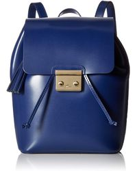 Lacoste Lve Mat Backpack With Flap - Blue