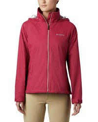 Columbia Switchback Iii Adjustable Waterproof Rain Jacket - Red
