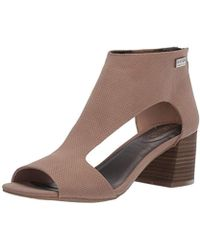 Kenneth Cole Reaction Mix Cut Out T-strap Heeled Sandal - Brown