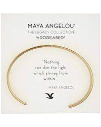 Dogeared - Maya Angelou Nothing Can Dim The Light Thin Engraved Cuff Bracelet - Lyst