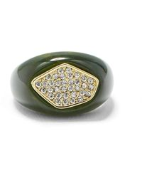 Vince Camuto Resin And Pave Ring - Green