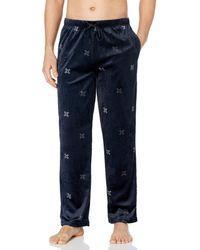 Kenneth Cole Reaction Fleece Lounge Pant Pajama Bottom - Blue