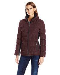 Calvin Klein - Rib Collar Puffer Jacket - Lyst
