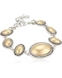 Lucky Brand Pave Gem Link Bracelet - Metallic