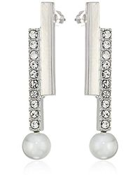 T Tahari - Essentials Silver Earrings - Lyst