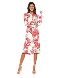 Equipment Floral Print Roseabelle Silk Dress - Red