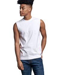 Russell Athletic Performance Sleeveless Muscle T-shirt - White