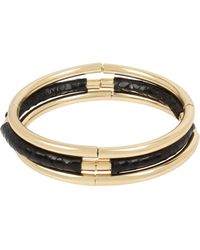 Kenneth Cole Stretch Bracelet Set - Metallic